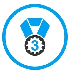 Third place medal icon vector
