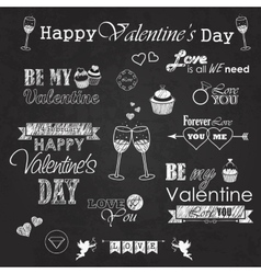 Valentines day set - labels emblems and vector image