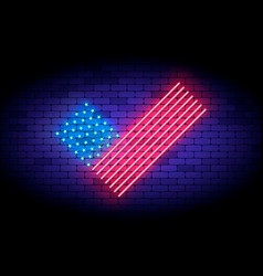 vote america neon with united vector image