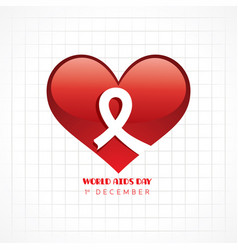 world aids day greeting- 1 december vector image