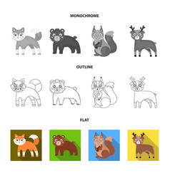 Zoo nature reserve and other web icon in flat vector