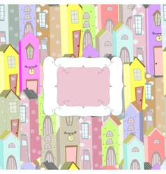 city background frame vector image