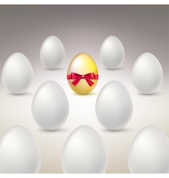 Golden Egg Difference uniqueness concept image vector image vector image