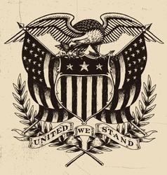 Hand drawn american eagle linework vector