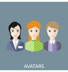 Reception Manager Avatars vector image