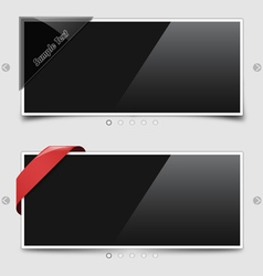 two image sliders vector image