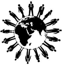 World business people workforce team vector image