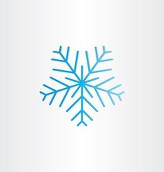 blue frozen snowflake icon vector image vector image