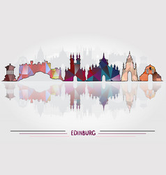 edinburgh city background vector image