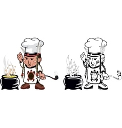 American indian Chef vector image