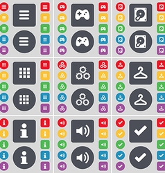 Apps Gamepad Hard drive Apps Gear Hanger vector image vector image