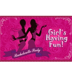 Bachelorette party girls night out vector image