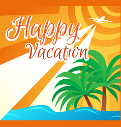 banner summer holidays vector image