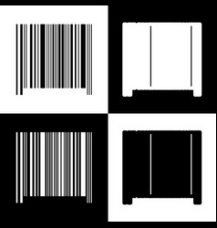 bar code sign black and white icons and vector image