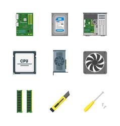 cartoon personal computer components vector image vector image