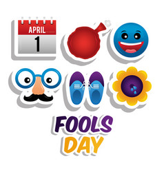 fools day card celebration vector image