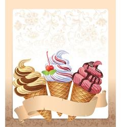 Ice cream menu vector