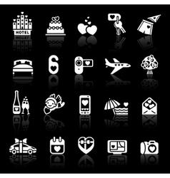 set valentines day icons romantic travel vector image