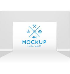 Template of photo studio backdrop vector