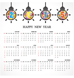 Calendar 2015 design template vector image