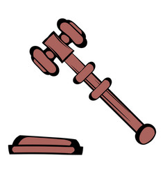 judge gavel icon icon cartoon vector image
