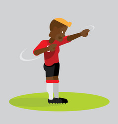 soccer players celebrating with dab dancing vector image vector image