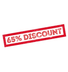 65 percent discount rubber stamp vector