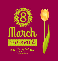 8 march poster womens day vector image