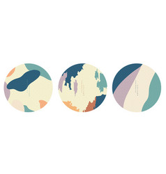 abstract circle backgrounds with japanese pattern vector image