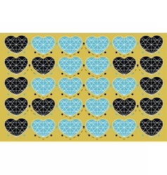 Abstract hearts pattern vector