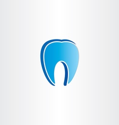 Abstract tooth dentist symbol vector