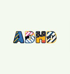 adhd concept word art vector image