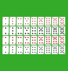 All playing cards vector