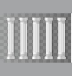 antique white columns vector image