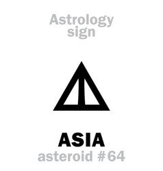 astrology asteroid asia vector image