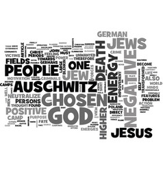 Auschwitz death camp text word cloud concept vector