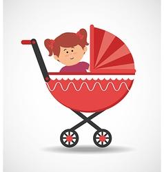 Baby in pram vector