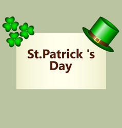 banner with clover and hat klpak symbol of st vector image