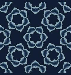 batik flower motif indonesian style seamless vector image