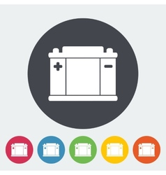 Battery flat icon vector