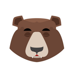 Bear sleeping emoji grizzly asleep emotion face vector