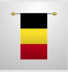Belgium hanging flag vector