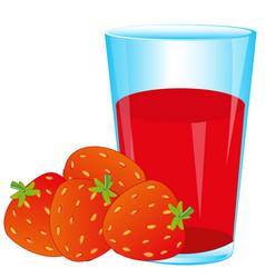 berries strawberries and juice vector image