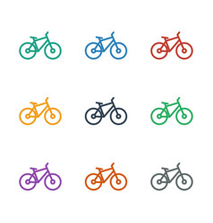 Bicycle icon white background vector