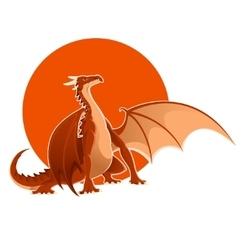Big red dragon vector
