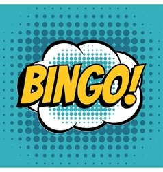Bingo comic book bubble text retro style vector