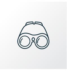 binoculars icon line symbol premium quality vector image