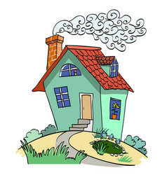 cartoon image of house vector image