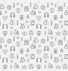 Chemical simple seamless pattern in linear vector