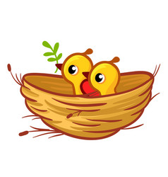 chicks sitting in the vector image
